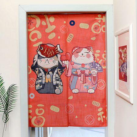 Japanese 2019 Lucky Cat Style Door-Curtain