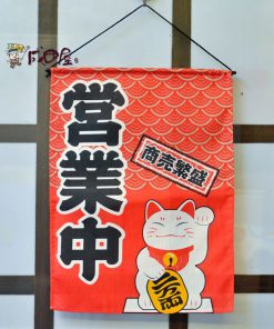 Lucky Cat 2019 Maneki Neko Flag Valance