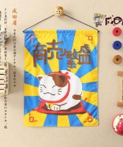 Hot Maneki Neko Flag Valance