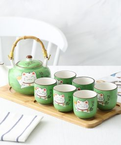 Japanese Maneki Neko FortuneCat Teapot Set