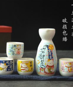 Best Seller Maneki Neko Lucky Cat Wine Set