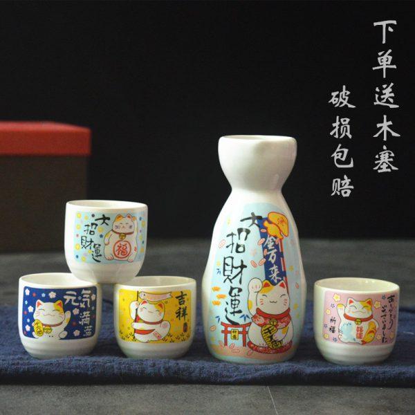 Best Seller Maneki Neko Lucky Cat Wine Set