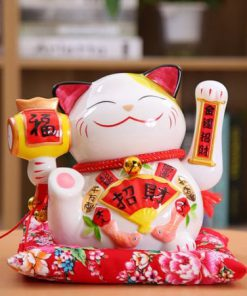 New Arrival Ceramic Maneki Neko Shaking Hand