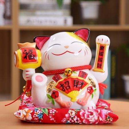 New Arrival Ceramic Maneki Neko Shaking Hand