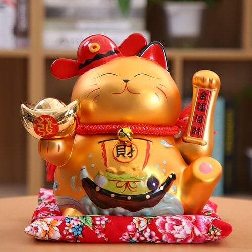 2019 Ceramic Maneki Neko Shaking Hand