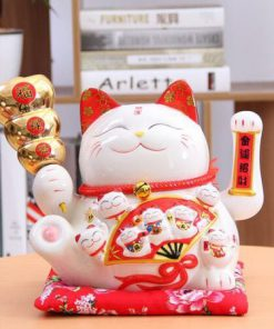 Best Seller Ceramic Maneki Neko Shaking Hand