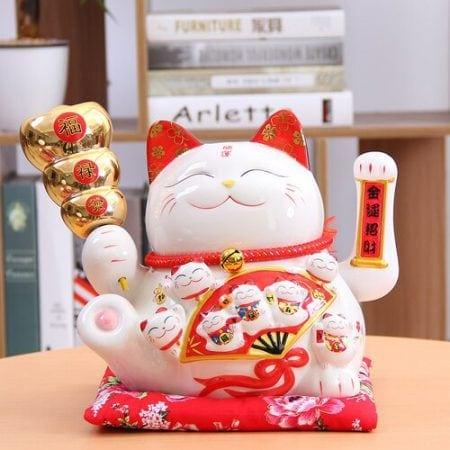 Best Seller Ceramic Maneki Neko Shaking Hand