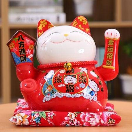 Hot Ceramic Maneki Neko Shaking Hand