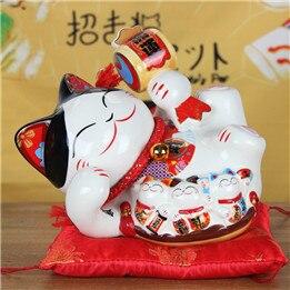 8 Inch Ceramic Fengshui Maneki Neko