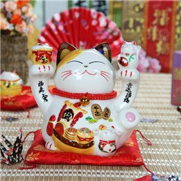 8 Inch Ceramic Cute Fengshui Maneki Neko