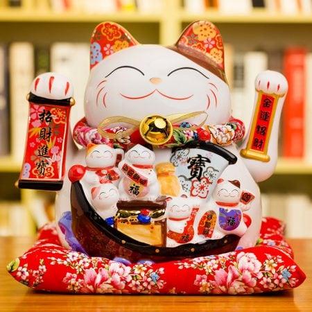 New Fortune Maneki Neko Decoration Waving Cat