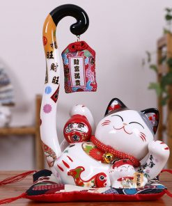 Creative Long Tail Ceramic Lucky Cat Maneki Neko