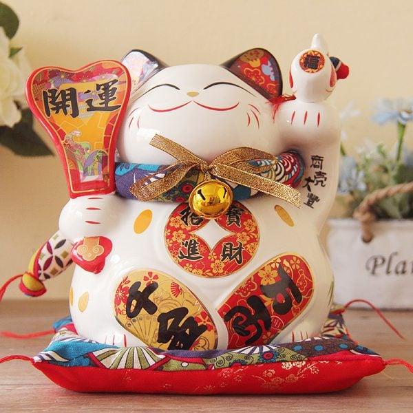 9 inch Fengshui Cat Japanese Maneki Neko