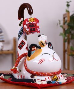 Maneki Neko Money Box Long Tail Fortune Cat