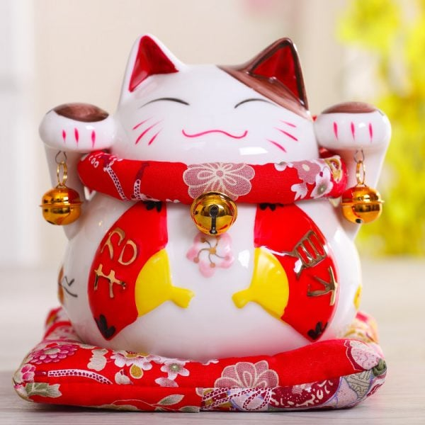 6 inch Maneki Neko Asian Lucky Cat