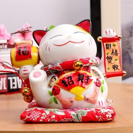 7 inch Maneki Neko Porcelain New Lucky Cat