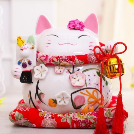 8 inch Maneki Neko Chinese Lucky Cat