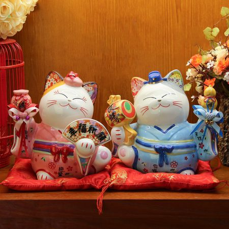 Best Seller Japanese Ceramic Maneki Neko Lucky Cats