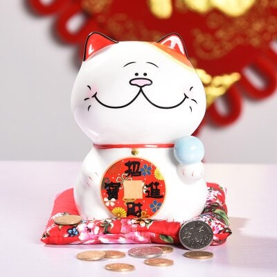 6 inch Japanese Maneki Neko Lucky Cat