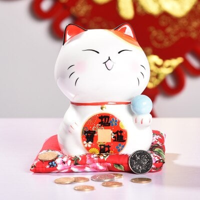 6 inch Adorable Maneki Neko Lucky Cat