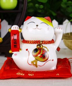 4 inch Maneki Neko Ceramic Fengshui Cat Best Seller