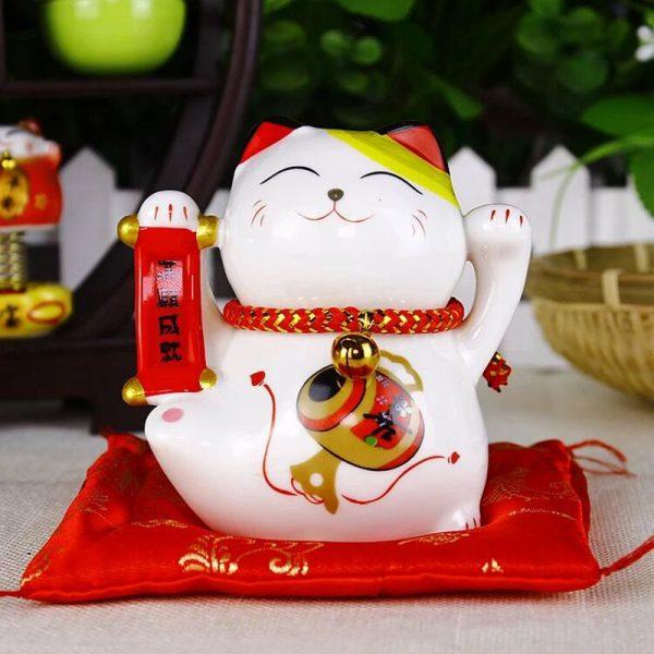 4 inch Maneki Neko Ceramic Fengshui Cat Best Seller