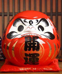Daruma Maneki Neko Fortune Statue