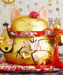 8 inch Golden Maneki Neko Hot Lucky Cat