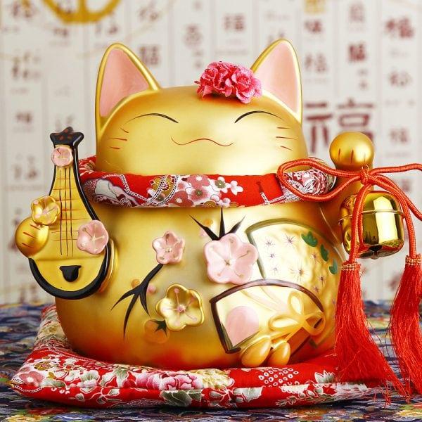 8 inch Golden Maneki Neko Hot Lucky Cat
