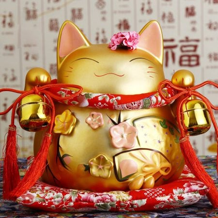 8 inch Golden Lucky Cat Maneki Neko