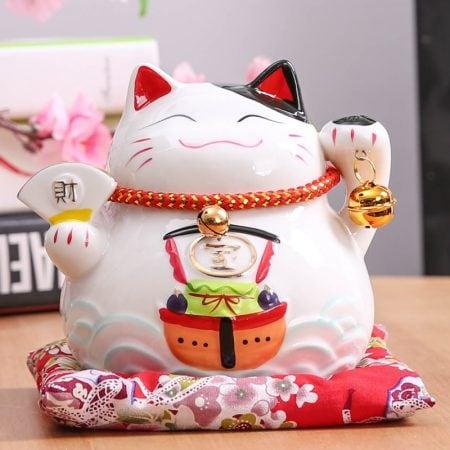 4.5 inch Maneki Neko Lucky Cat 2019 Home Decor