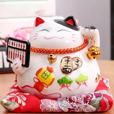 6 inch Maneki Neko White Lucky Cat