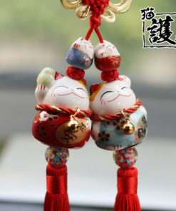 Lucky Cat Maneki Neko Cute Car Hanging