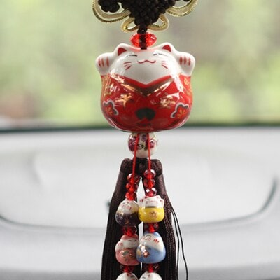 Fortune Cat Maneki Neko 2019 Car Hanging