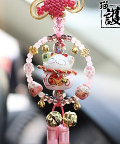 Car Hanging Ornament Maneki Neko Lucky Cat