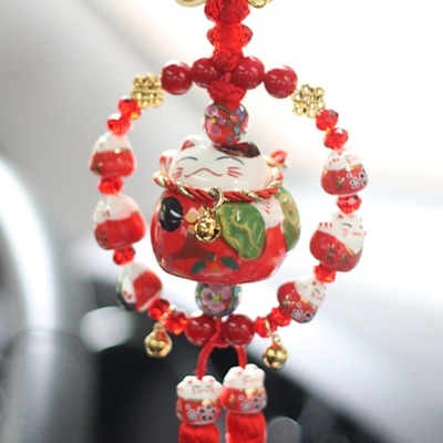 New Car Hanging Ornament Maneki Neko Lucky Cat