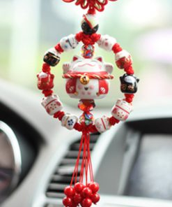 New Maneki Neko Lucky Cat Car Hanging Ornament