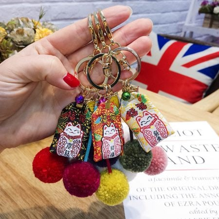 8 Styles Handmade Maneki Neko Lucky Bag