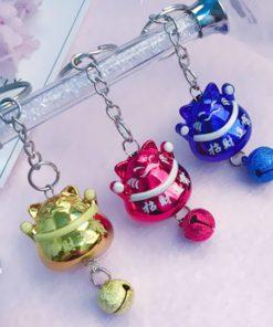 Full Color Fortune Cat Maneki Neko Keychains