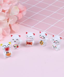 5pcs Maneki Neko Lucky Cat Decorations