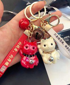 Chinese Style Maneki Neko Lucky Cat Keychains