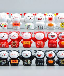 6PCS Lucky Cats Cute Miniatures Ornaments