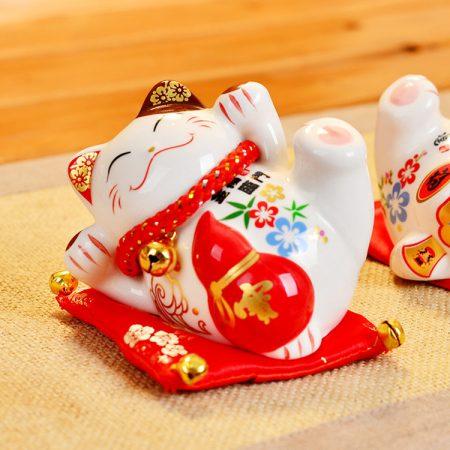 4 Inch Ceramic Lucky Cat 2019 Maneki Neko