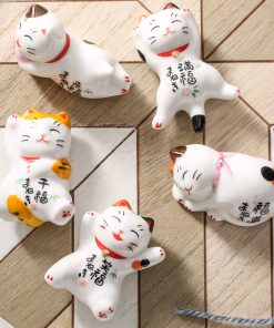 Mini Maneki Neko Ceramic Cute Miniatures