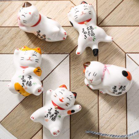 Mini Maneki Neko Ceramic Cute Miniatures