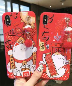 Cute Maneki Neko Chinese Style Lucky Cat Iphone Case