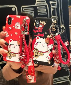 Cute Maneki Neko Chinese Style Fortune Cat Iphone Case
