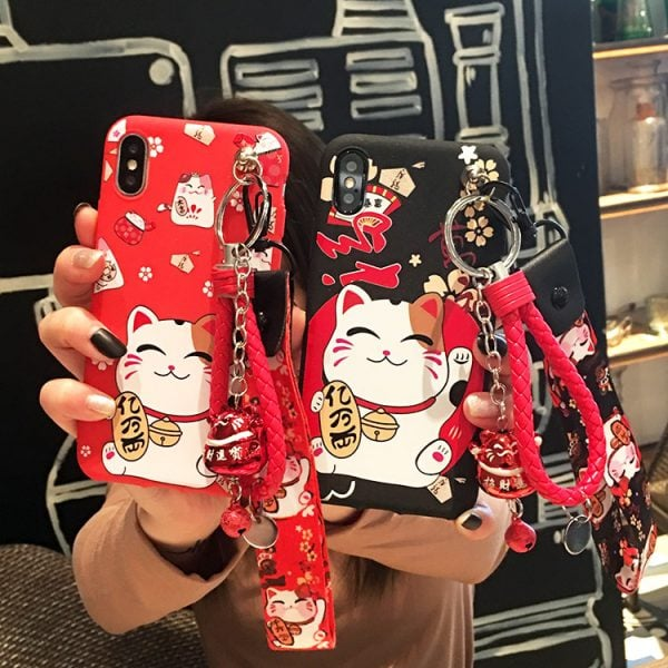 Cute Maneki Neko Chinese Style Fortune Cat Iphone Case