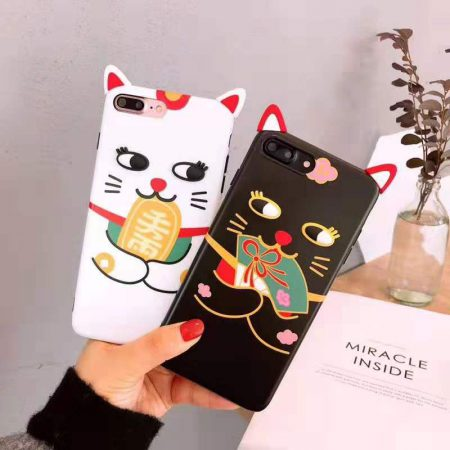 Cute Maneki Neko Fortune Cat Iphone Case