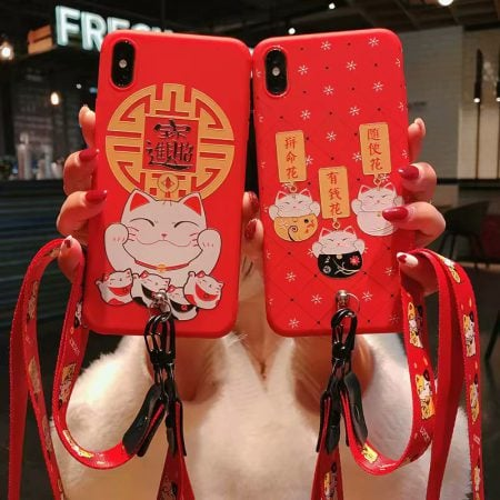 2019 Maneki Neko Fortune Cat Iphone Case